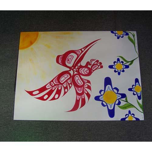 Original Painting Hummingbird by David Jones