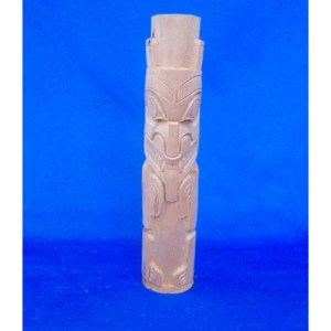 Yew Wood Bear Totem by Leon Ridley