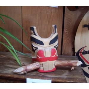 Red Cedar Beaver Mask by Alan Weir
