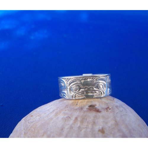 Silver Bear Ring by Carmen Goertzen