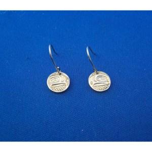 Silver Eagle Earrings by Neill Goertzen
