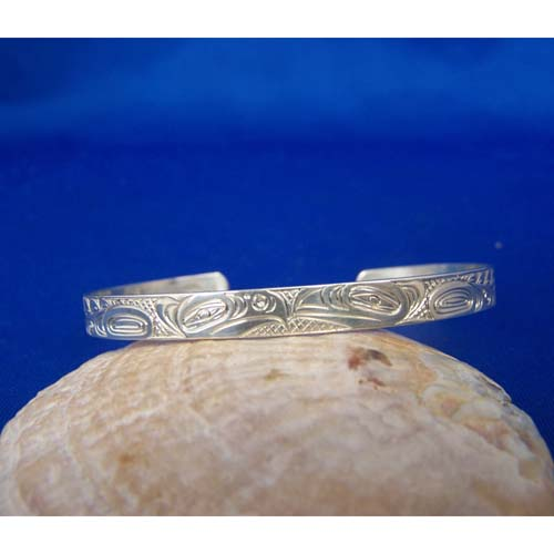 Silver Eagle Raven Bracelet by Neil Goertzen