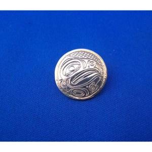Silver Eagle Round Pendant by Neil Goertzen