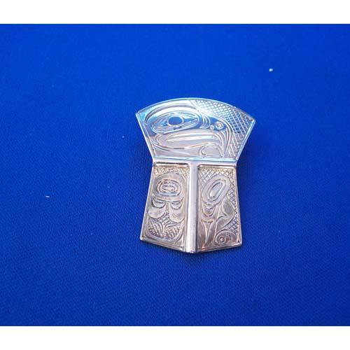 Silver Eagle Sheild Pendant by Neil Goertzen