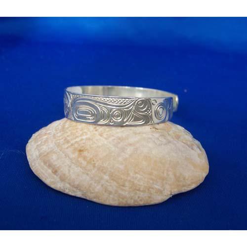 Silver Eagle Side View Eagle Bracelet by Carmen Goertzen