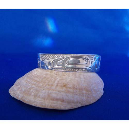 Silver Hummingbird Side Veiw Bracelet by Carmen Goertzen