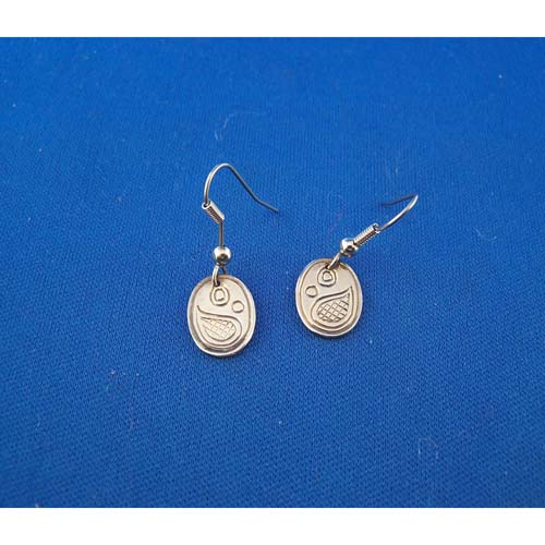 Silver Salmon Egg Earrings by Neil Goertzen