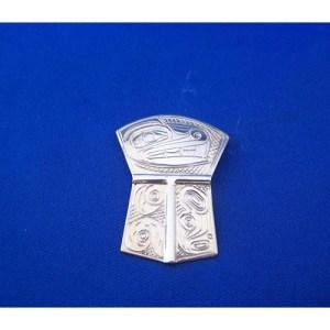 Silver Wolf Shield Pendant by Neil Goertzen