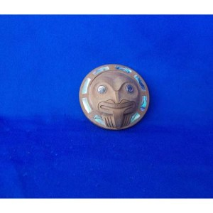 Yew Wood Frog Mask Pendant by Ron Russ