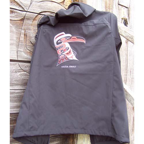 Black Hood Jacket Backk View by Cooper Wilson