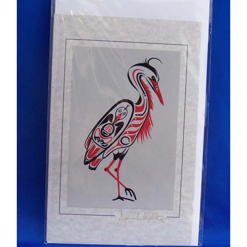Card-Blue Heron 4 by April White