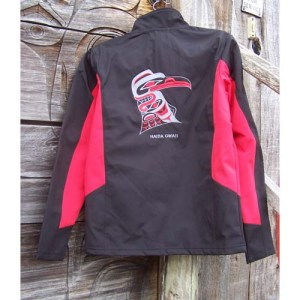 Jacket Red & Black back view by Cooper Wilson