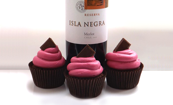 Red Wine and Chocolate Cupcakes