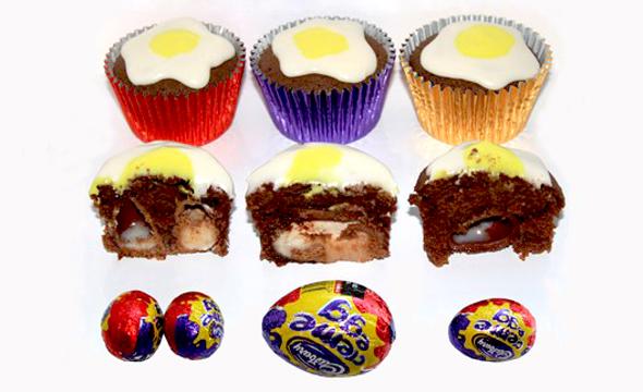 Cadbury's Creme Egg Cupcakes