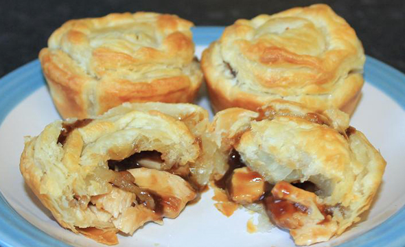 Super Easy Chicken Puff Pies