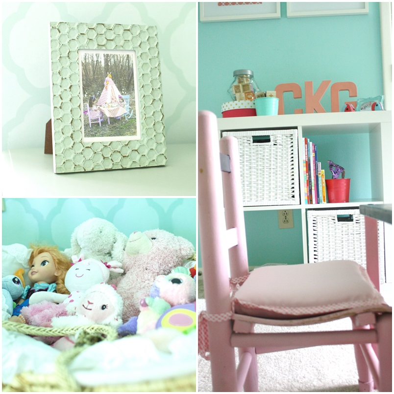 Coral and Robin's Egg Blue Big Girl Room