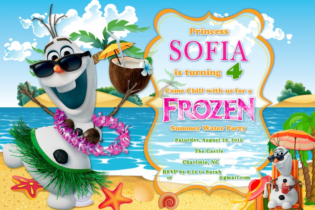 Sofia is Turning 4 FROZEN Water Party 8.29.15