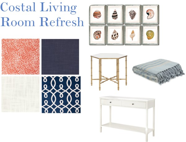 Coastal Living Room Refresh