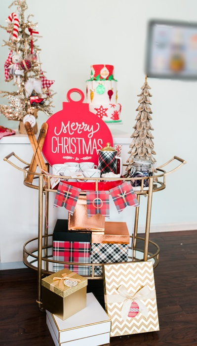 Christmas Inspiration and DIY Bar Cart Sign Sarah Sofia Productions