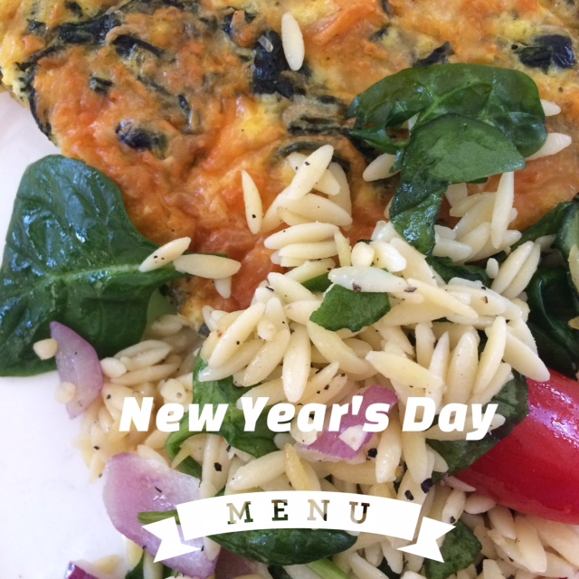 New Year's Day Smoked Salmon Spinach Frittata
