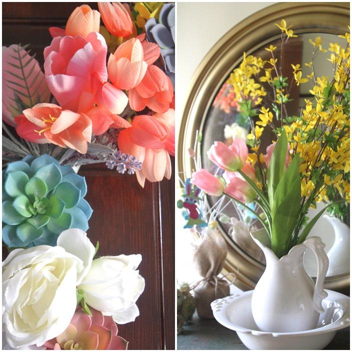 Easy DIY Spring Wreath Tutorial via Sarah Sofia Productions