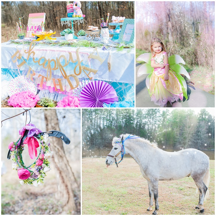 Fairies Unicorns and Rainbows Party via Sarah Sofia Productions