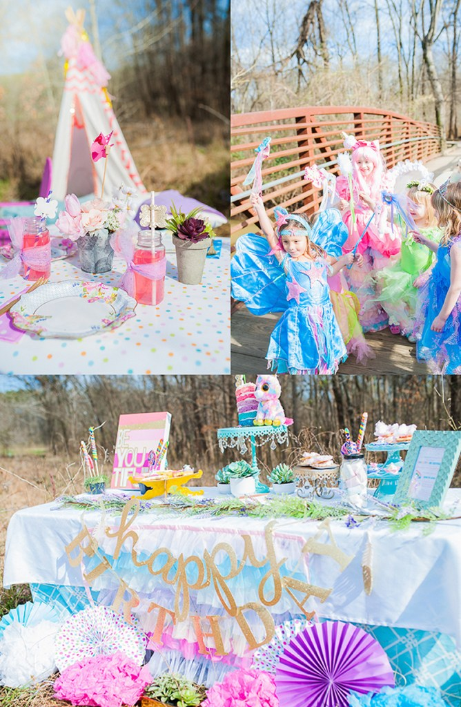 Fairies Unicorns and Rainbows Kids Party Feature