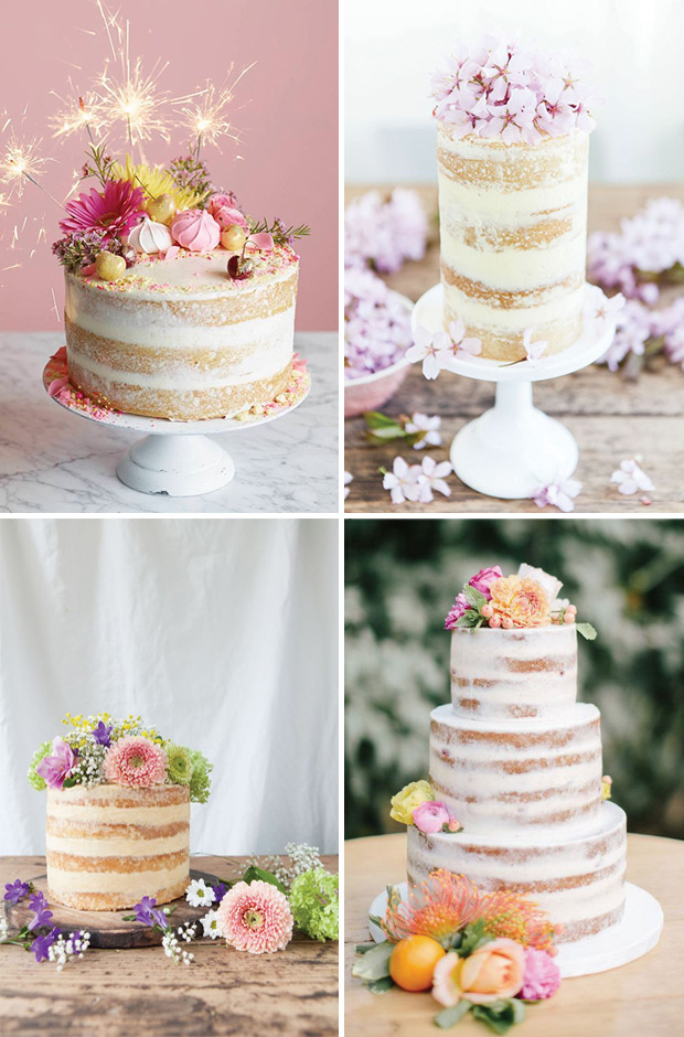 9 Weddig Trends inspired by Pantone's Colors of The Year: New Naked Cake AKA Dirty Iced Cake