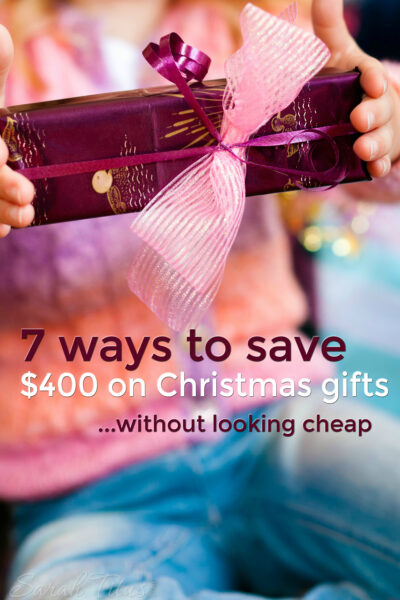 Christmas used to cost me a good $500; I kid you not. Now, I still show the same amount of love on $100. Here's 7 ways to save $400/year on Christmas gifts!