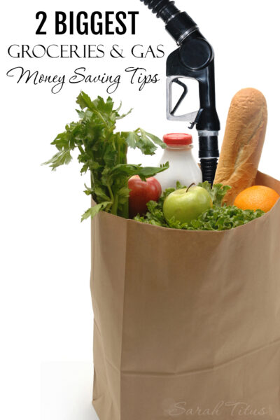 You can save a considerable amount of money by following these two simple groceries and gas money saving tips..