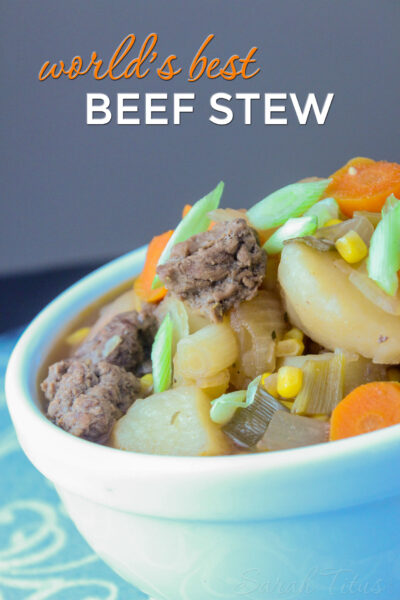 Everyone who eats my world's best beef stew says it's the best recipe they've ever tried. My family always asks me to make it & today, I'm sharing my secret recipe!
