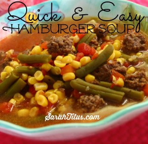 hamburger veggie soup recipe