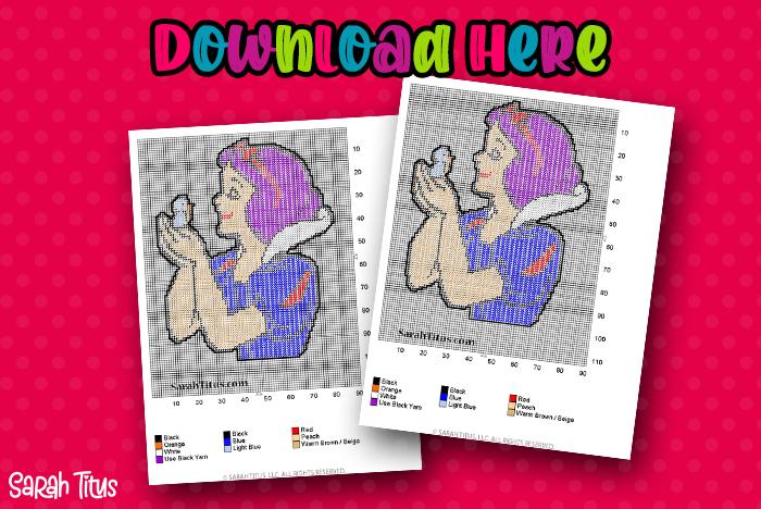 Snow White Plastic Canvas Pattern