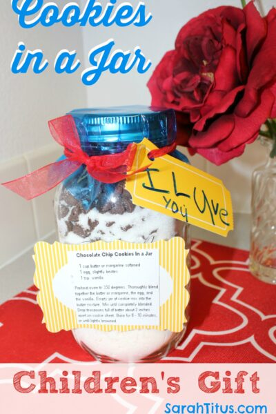 Cookies in a Jar: Children's Gift Idea