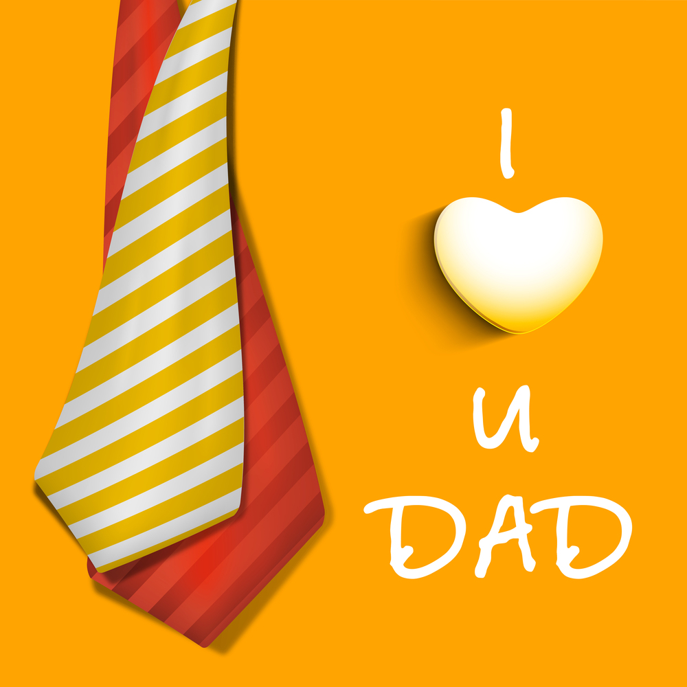 Happy Fathers Day concept banner, flyer or poster design with ne