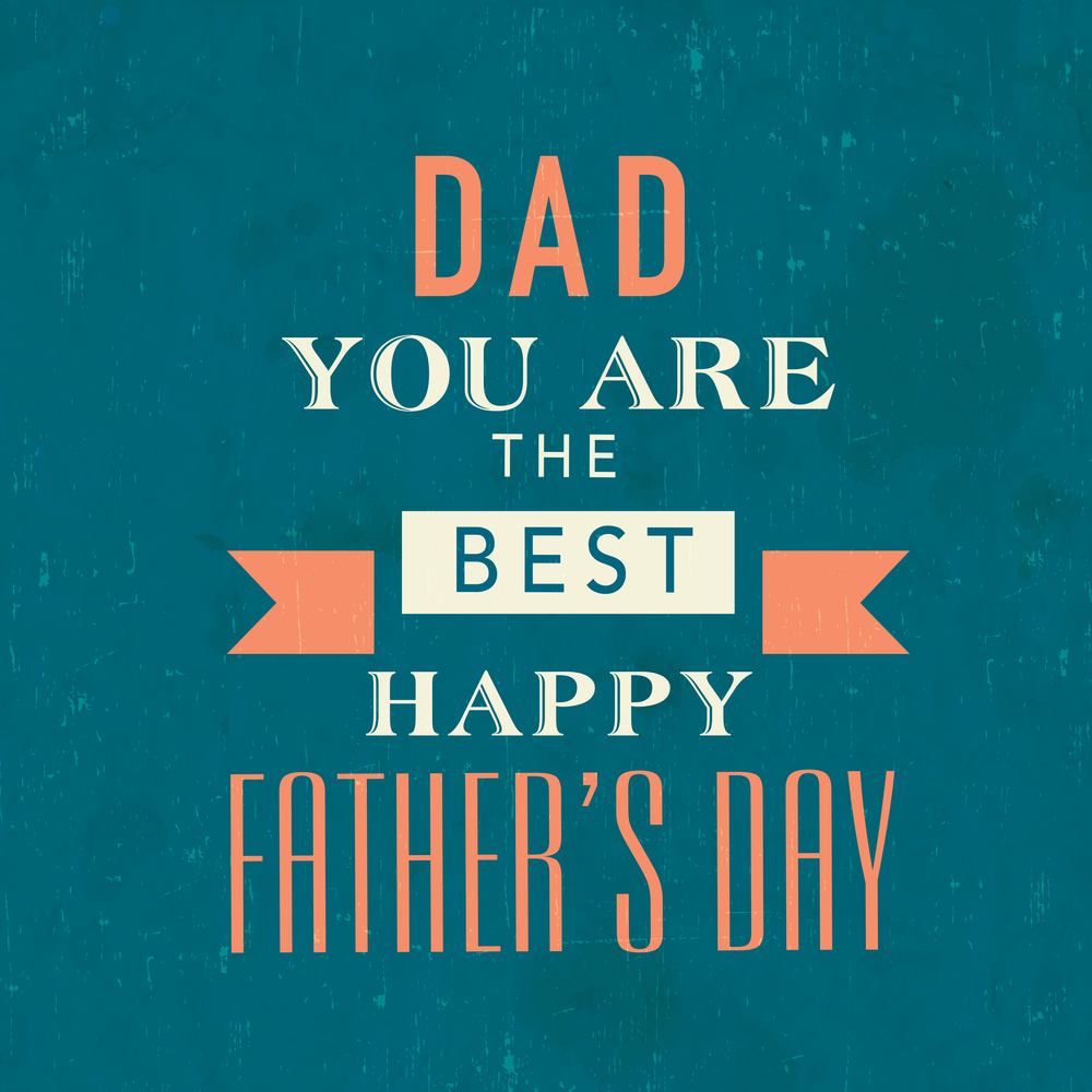 Poster, banner or flyer design with stylish typographic text Dad