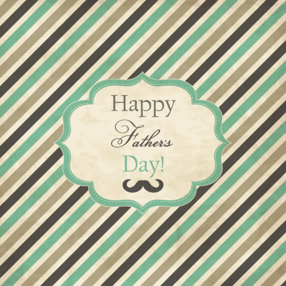 Striped card with frame for Father's Day