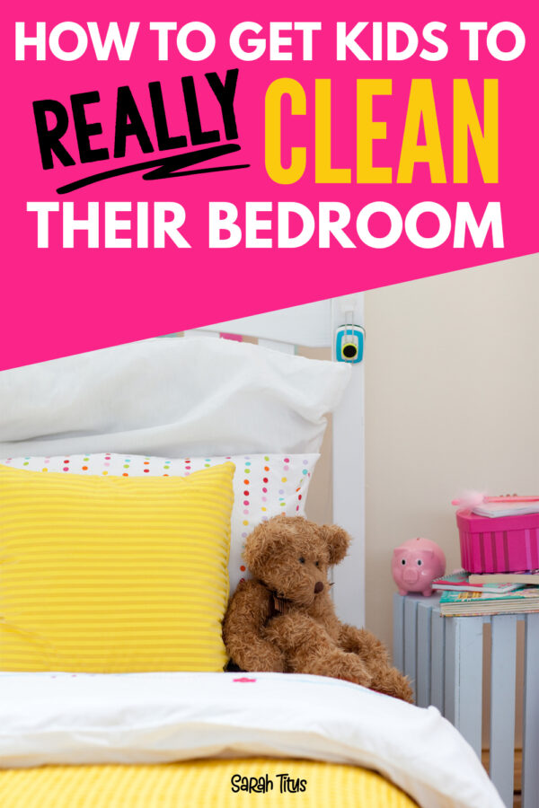 Do your kids always have a messy room? Here's a great idea on how to get kids to really clean their room! Teach them responsibility early!