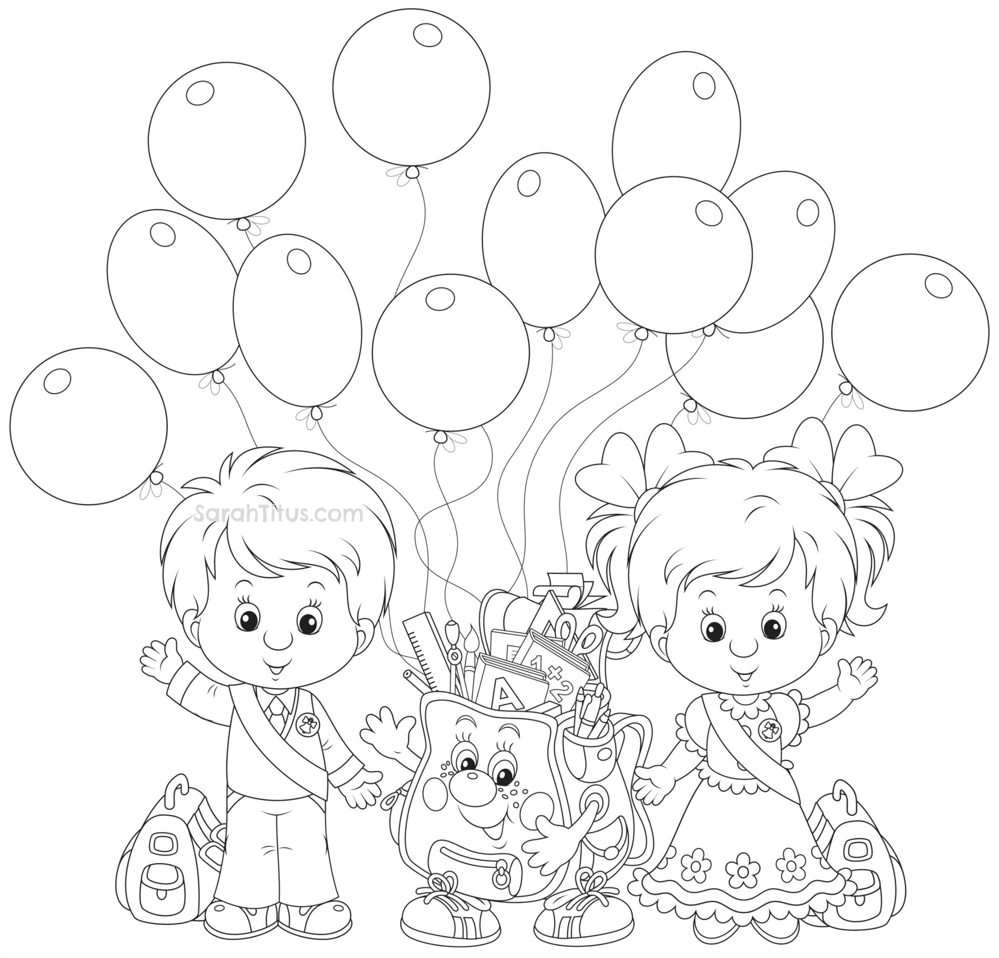 28 First Day Of School Coloring Pages For Preschoolers Photo Ideas ... | 1900x1980