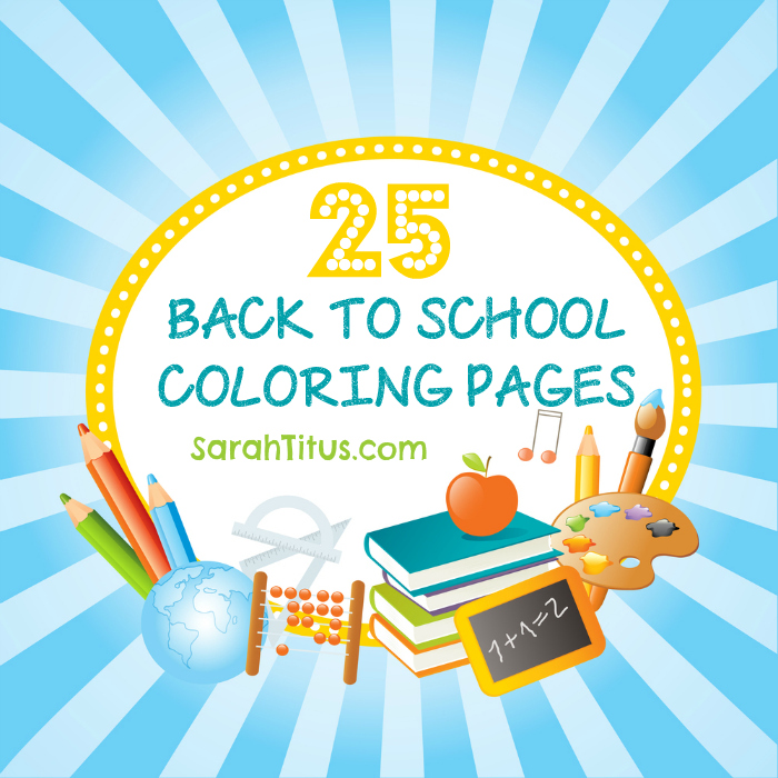 25 Back to School Coloring Pages | SarahTitus.com