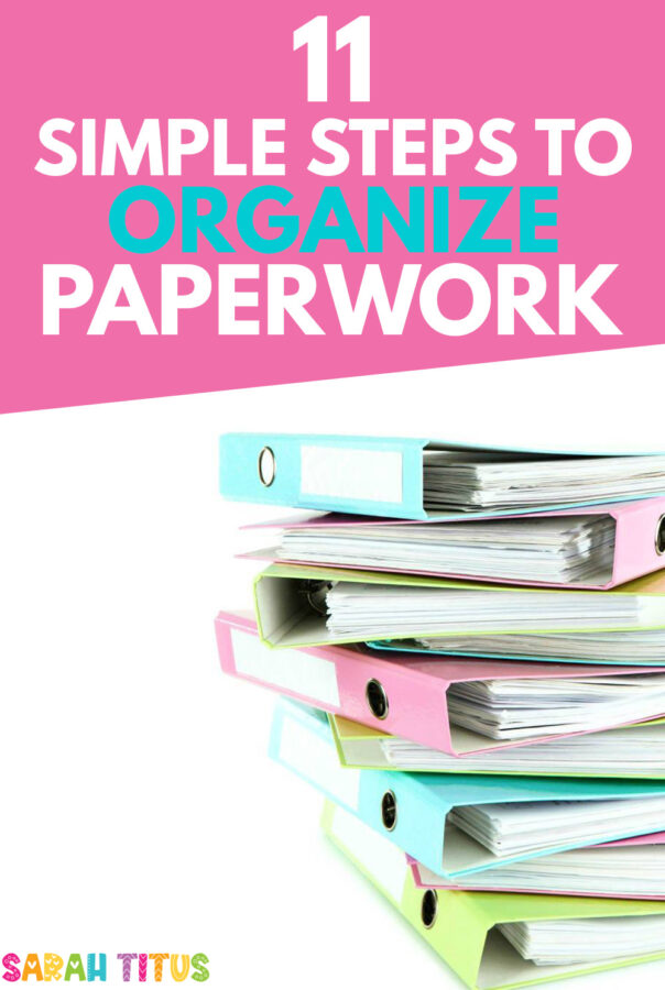 Organizing paperwork has never been so easy with these 11 organizing paper clutter tips and tricks. Never let paper clutter pile up again by implementing these paper organizing ideas.