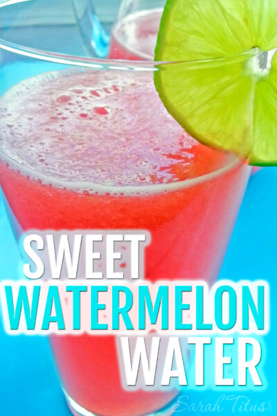 I hate plain water. It's so tasteless and bland and I dare not drink soda, so I came up with this fun Sweet Watermelon Water recipe that your family is sure to enjoy! Perfect for get-togethers this summer as well!