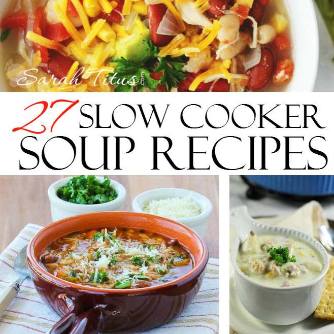 Enjoy the smells of your favorite soup cooking and not have to worry about slaving over dinner tonight! These 27 slow cooker soup recipes are not only SOUPer tasty, they are almost all very budget friendly too.