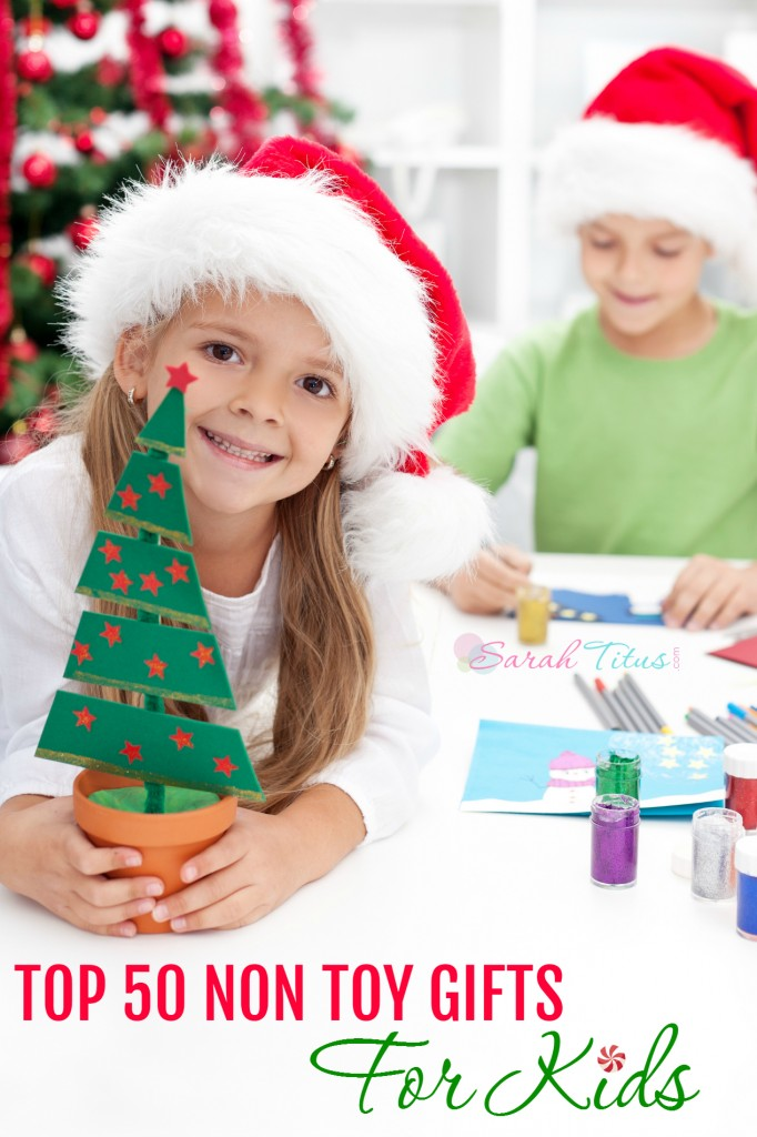 My kids toys are like rabbits, they multiply on their own with no help from me. It drives me nuts. So in an effort to keep clutter down, I don't give my kids toys for Christmas. Here's a list of 50 great alternatives...created by kids!