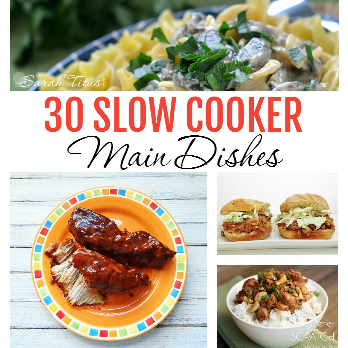 Everyone loves using their slow cooker to help ease the burden of cooking evening meals, but we can easily get tired of the same old things. Here is a list of 30 Slow Cooker Main Dishes that are going to leave your family begging for more.