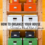 Trying to manage organization in a space with a pack-rat can present quite a challenge, but here are some tips to ease your stress about it and get things under control.