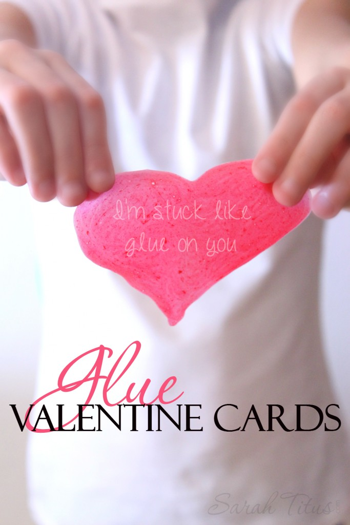Make any shape you want, these glue valentine cards are perfect for Valentine's Day. You can cut them, write on them, put glitter on them, be creative!