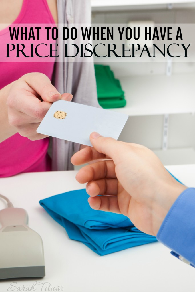 So you get up to check out and the item rings up for more than what the shelf tag said....what do you do? Click here to read what to do when you have a price discrepancy.