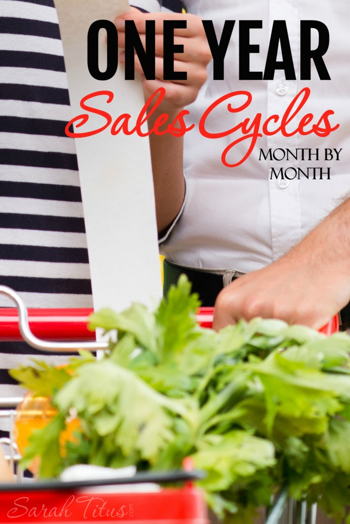 Wanna save an extreme amount of money but, don't know what to look for to stock up on this month? Here's a great list of the entire year, month by month!