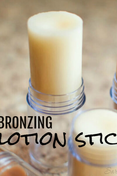 Want a beautiful summer glow without all the chemicals? Try a DIY bronzing lotion stick! They give you that pretty summery glow with just the right amount of moisture.